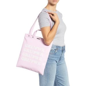 NWT! Rebecca Minkoff GIRL POWER Leather Tote Bag